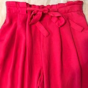 Zara Fuschia Pink Paper bag Pant